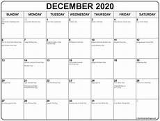 December 2020 Calendar With Holidays December 2020 Calendar With Holidays