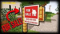 How To Make A For Sale Sign Minecraft How To Make A For Sale Sign Custom Map Youtube