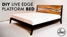 diy live edge king modern platform bed how to