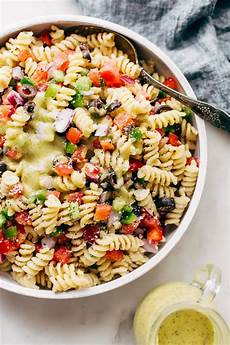 Salad With Pasta Easy California Pasta Salad With Italian Dressing Recipe