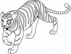 Simple Tiger Outline 60 Tiger Shape Templates Crafts Amp Colouring Pages Free