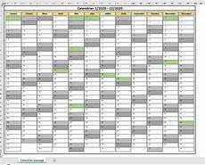 Calendario 2020 Xls Calendrier 2020 Excel Modifiable Et Gratuit Excel Malin Com