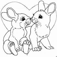 Malvorlagen Hasen Gratis Hasen Mit Einem Herz Ausmalbild Malvorlage Gemischt