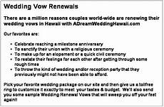 Wedding Vow Renewals