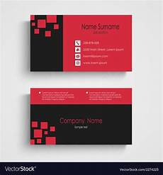 Sample Calling Card Format Modern Sample Business Card Template Royalty Free Vector