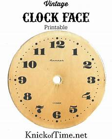 Free Printable Clocks Antique Graphics Wednesday Clock Faces Knick Of Time