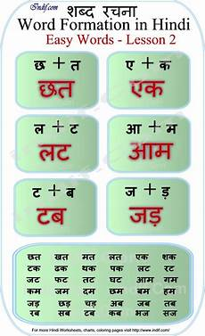 Hindi Matra Words With Pictures Chart Learn To Read 2 Letter Hindi Words Lesson 2