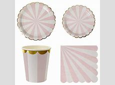 Aliexpress.com : Buy Pink Stripe Disposable Party