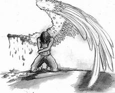 Drawing Of Angel Wings Broken Angel By Buckwulf Deviantart Com On Deviantart