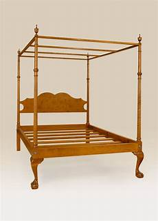 size canopy bed frame tiger maple wood poster