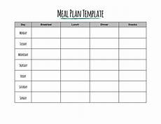 Dinner Plan Template 40 Weekly Meal Planning Templates ᐅ Templatelab