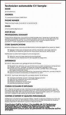 Automotive Cv Modele De Cv Technicien Automobile Moncvparfait