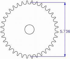 Sprocket Diameter Chart Sprocket Diameter Calculator