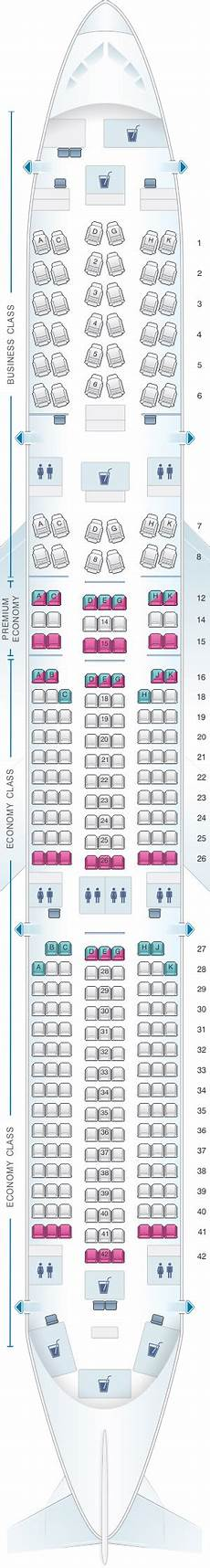 Airbus A350 900 Seating Chart Seat Map Lufthansa Airbus A350 900 Config 1 Seatmaestro