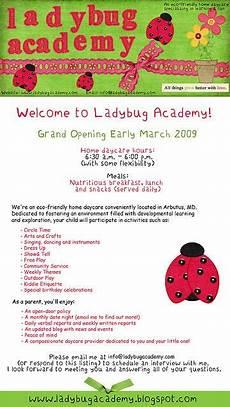 Day Care Ad Ladybugacdemynewdesignjpeg Opening A Daycare Starting A