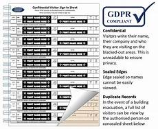 Visitor Signing In Book Hard Backed Sign In Book With Data Protection Compliant