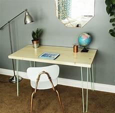 diy contemporary hairpin leg desk