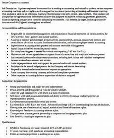 chief accountant duties chief accountant job description pdf