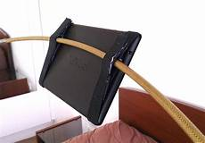 make a bedroom tablet holder from tent poles lifehacker