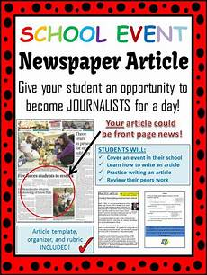 Parts Of A Newspaper School Event Newspaper Article Peer Review Template