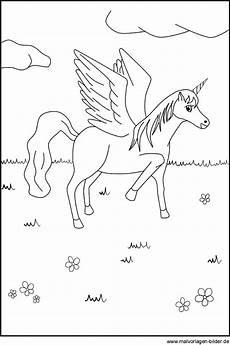 Einhorn Pegasus Ausmalbilder Pegasus Bild Malvorlage Zum Ausdrucken