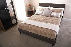 bed in a box faux leather bed frame 3ft single 4ft 4ft6