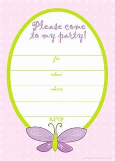 Birthday Party Invitation Templates Free Printable Butterfly Birthday Invitations Template Bagvania