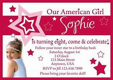 Birthday Invi American Girl Birthday Invitation Invitations American