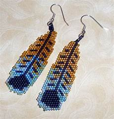 items similar to american beaded earrings feathers