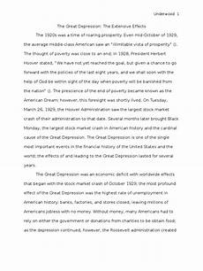 Essay About Great Depression Great Depression Research Paper Great Depression Stock