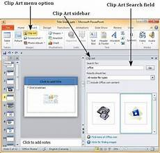 clipart microsoft powerpoint add pictures to slide in powerpoint 2010 tutorialspoint