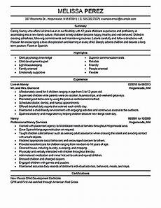 Resume Nanny Sample Nanny Resume Sample Nanny Resume Examples Are Made For