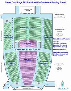 John M Greene Hall Seating Chart Share Our Stage 2010 Event Info Vip Tickets Amp Donations Page