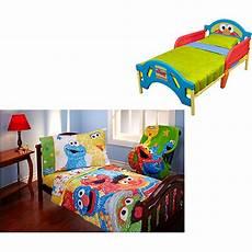 sesame elmo toddler bed w bedding bundle walmart