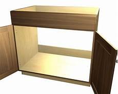 2 door 1 false front cooktop base cabinet
