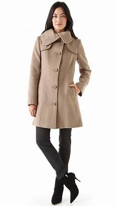 mid length coats for mackage mid length wool coat in sand lyst