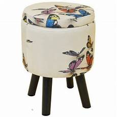 butterfly contemporary retro padded storage stool