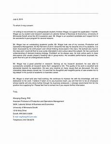 Letter Of Recommendation It Technician Andrewwagar Letter Of Recommendation Research Assistant
