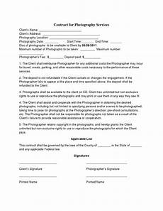 Contract For Photography Services Template Basic Wedding Photography Contracts Photography Contract