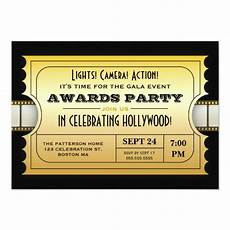Golden Ticket Invitation Annual Movie Awards Party Golden Ticket Invitation