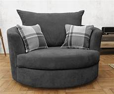 swivel cuddle chair velour fabric grey fabric sofas