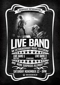 Concert Flyer Psd Live Concert Flyer Poster Template Vintage Psd Design