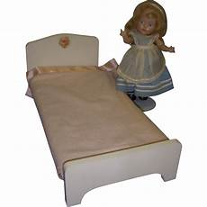 vintage 1960s s wooden doll bed from