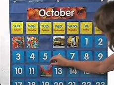 Scholastic Calendar Pocket Chart Scholastic Monthly Calendar Pocket Chart Youtube