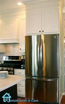 building the refrigerator enclosure remodelando la casa