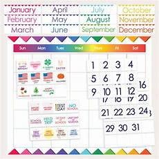 Printable Month Classroom Calendar Printable Months Days Holidays Numbers