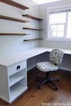diy l shaped desk one room challenge week 4 just