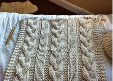 cable knit blanket or throw
