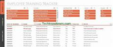 Training Tracker Excel Template Employee Training Tracker Template Excel