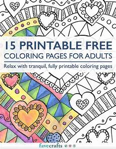 15 printable free coloring pages for adults pdf